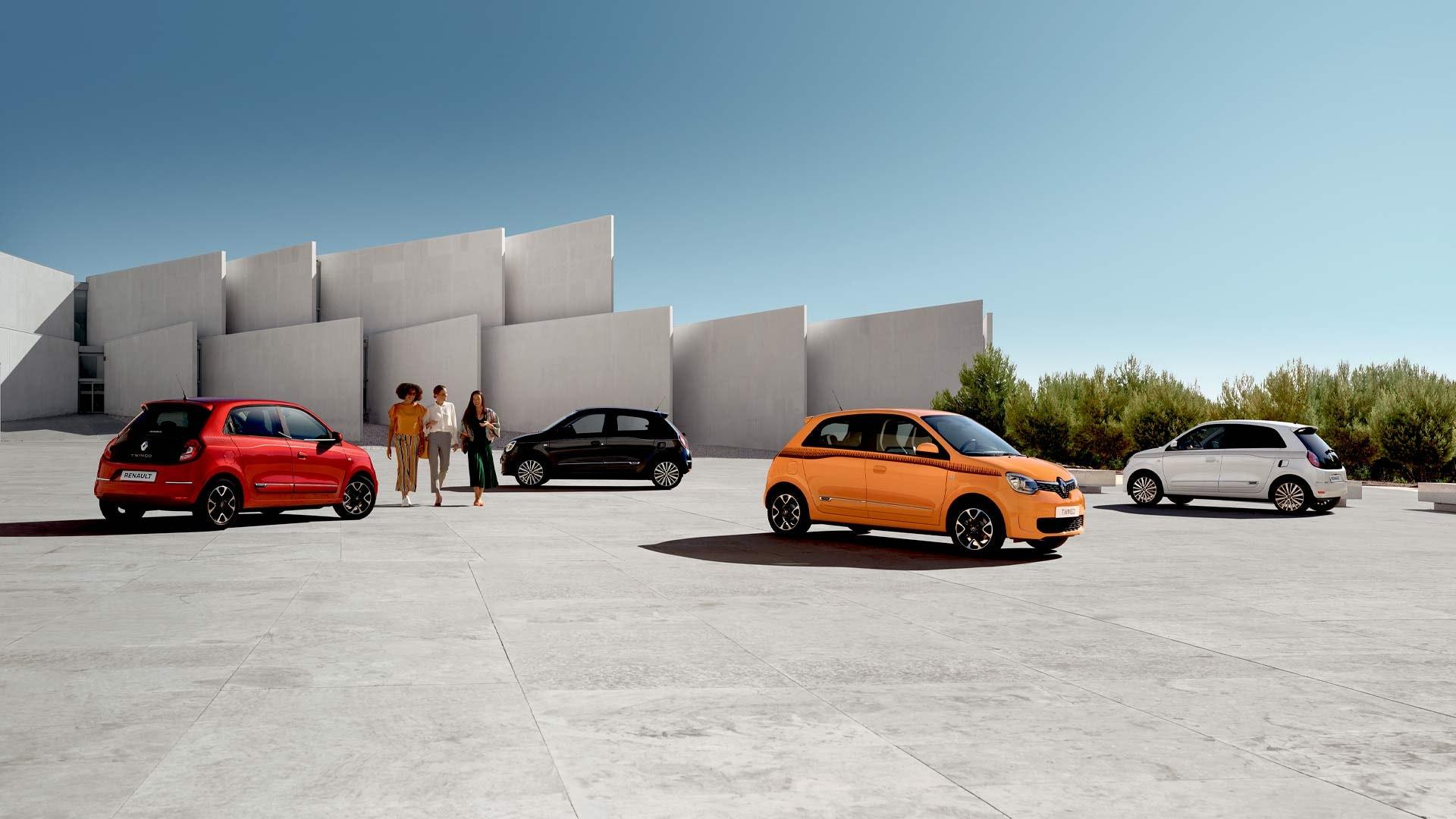 Renault Twingo i forskellige farver