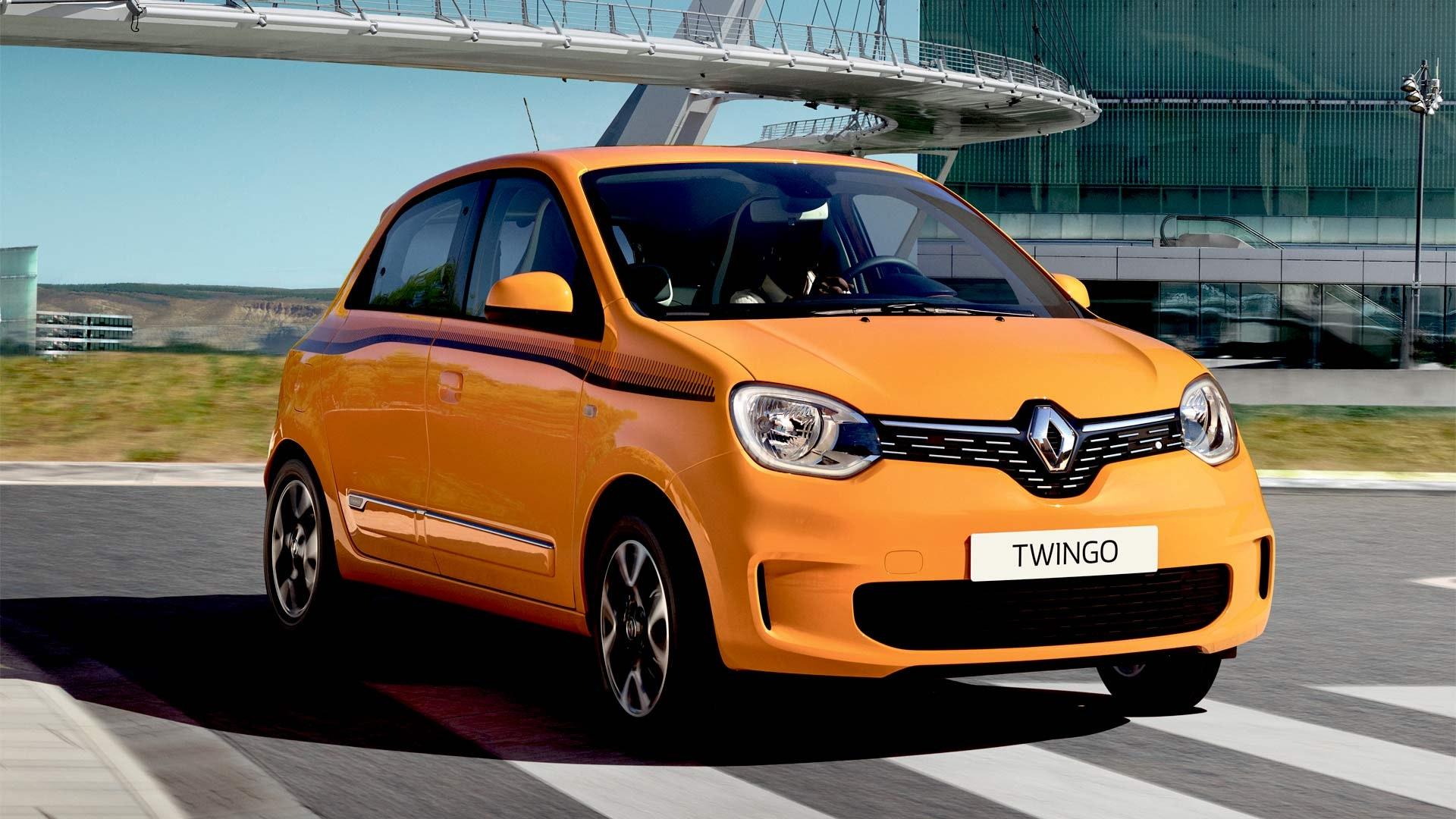 Renault Twingo orange forfra