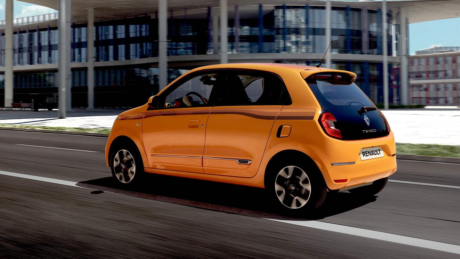 Renault Twingo orange fra siden