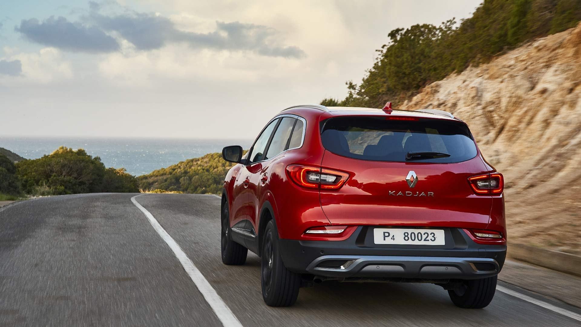 Renault Kadjar rød bagfra