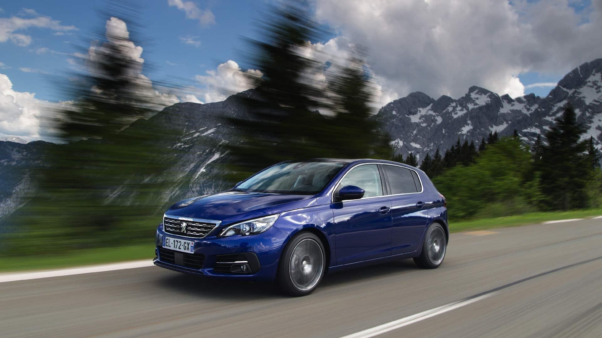 Peugeot 308 blå