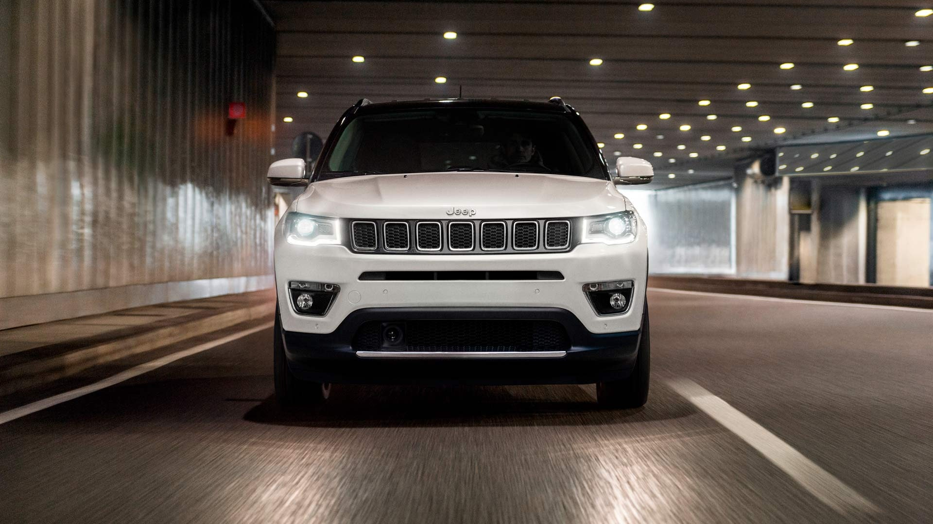 Jeep Compass front hvid