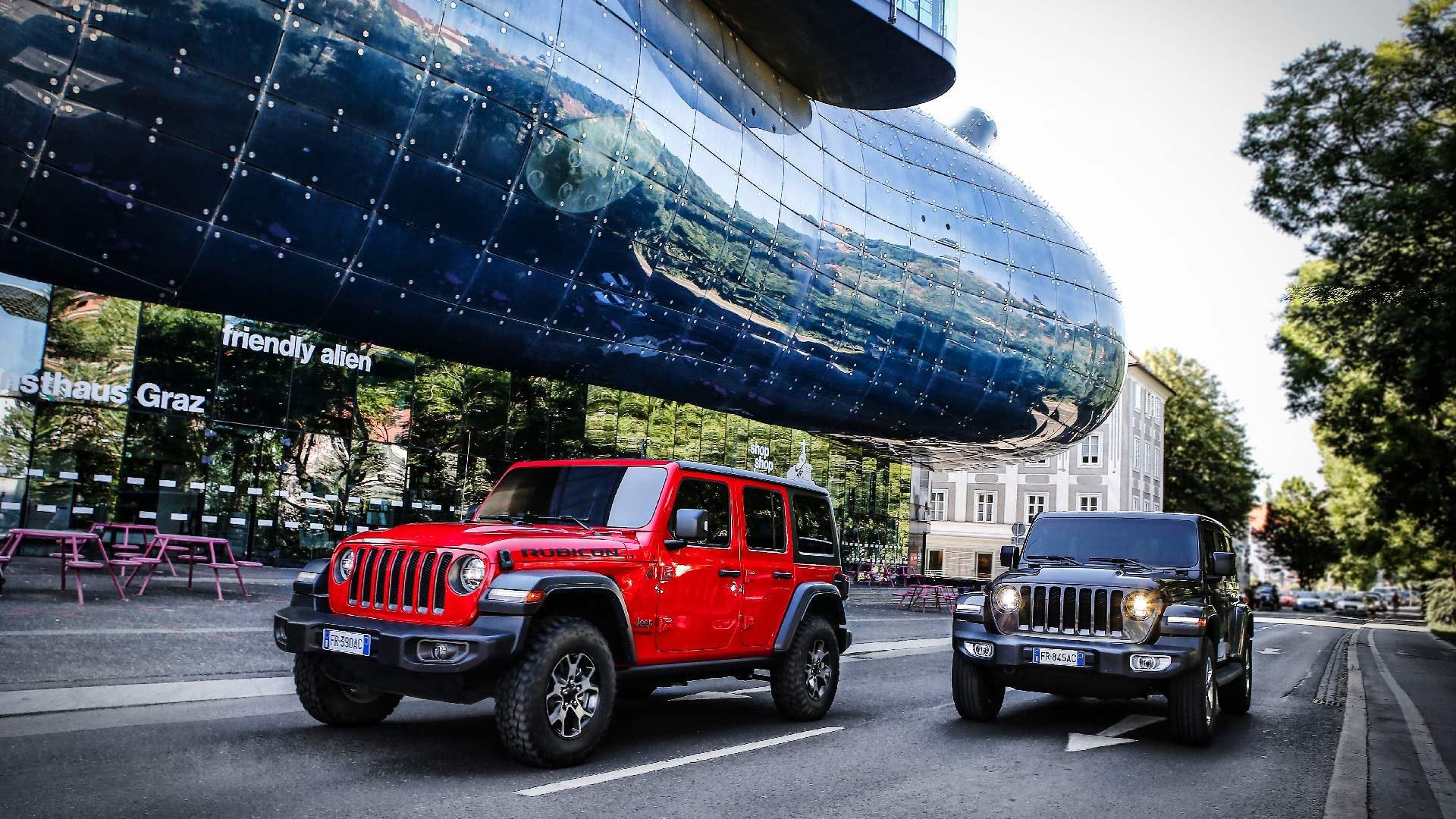 Jeep Wrangler 2 forskellige farver