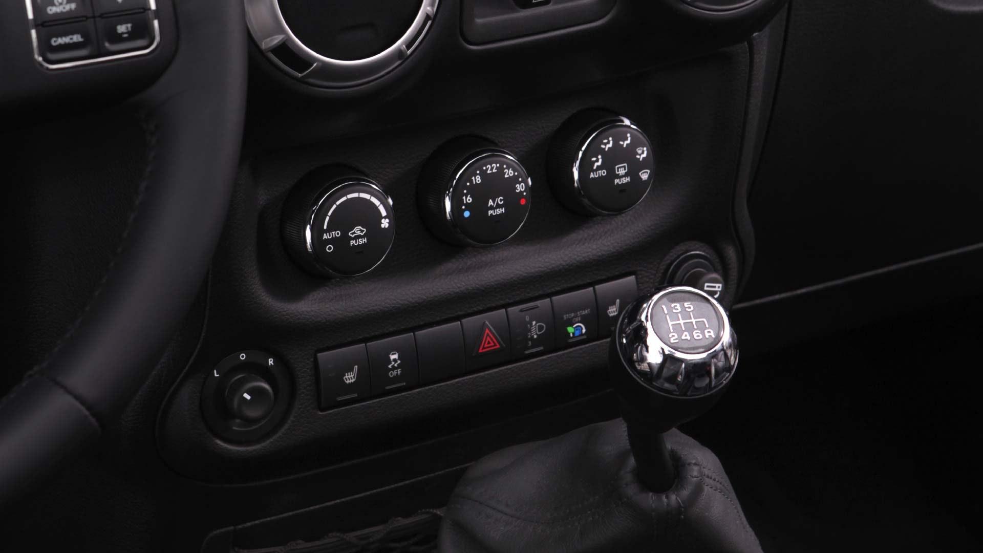 Jeep Wrangler interiør