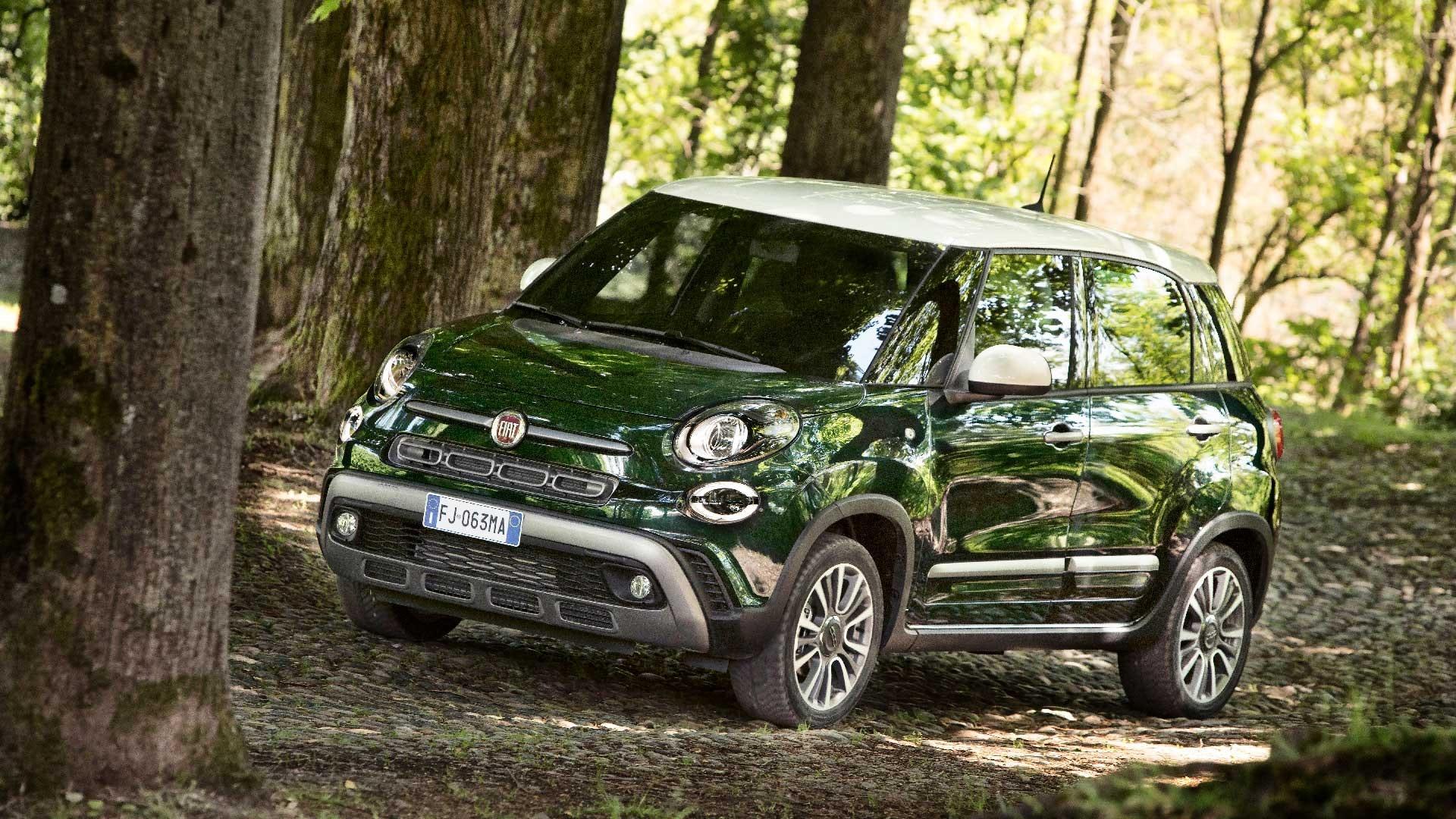 Fiat 500L side grøn