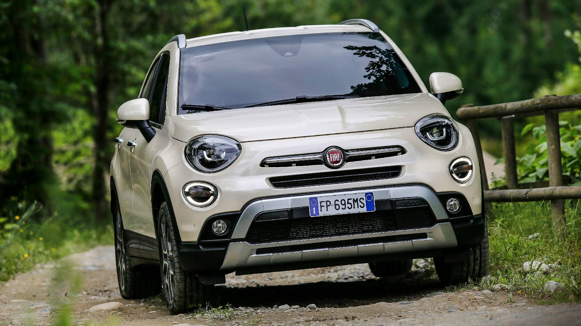 Fiat 500X hvid front