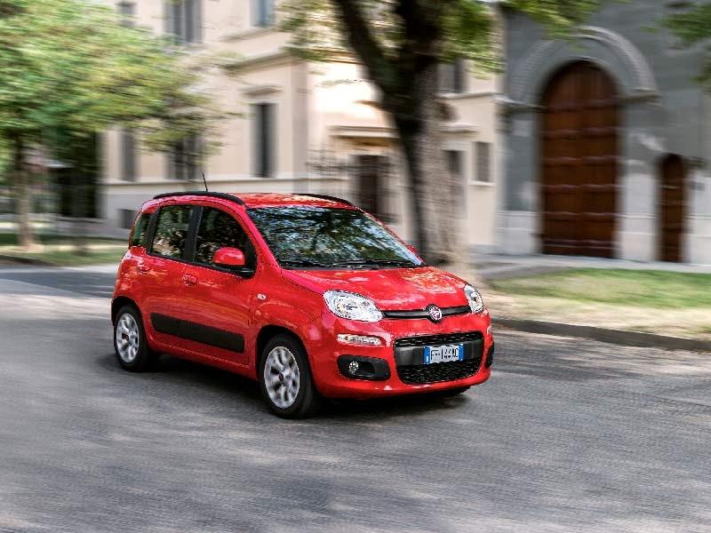 Fiat Panda rød front