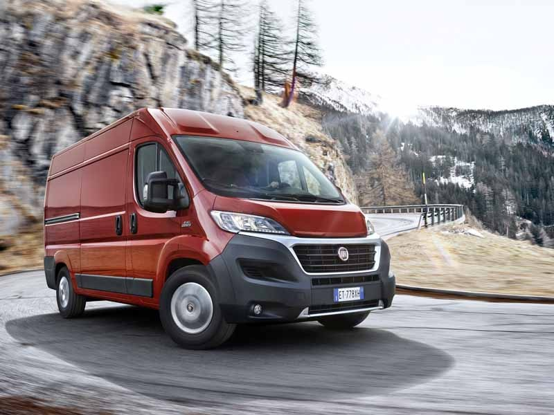 Fiat Ducato front i sving
