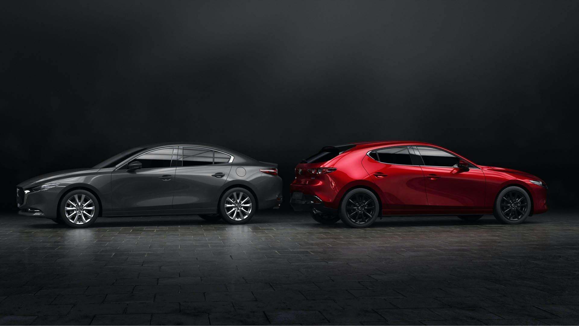Den helt nye Mazda 3 sedan og hatchback