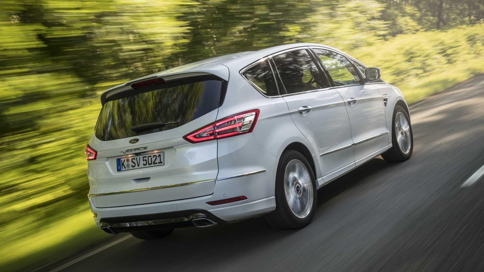 Ford S-MAX hvid bagfra vignale