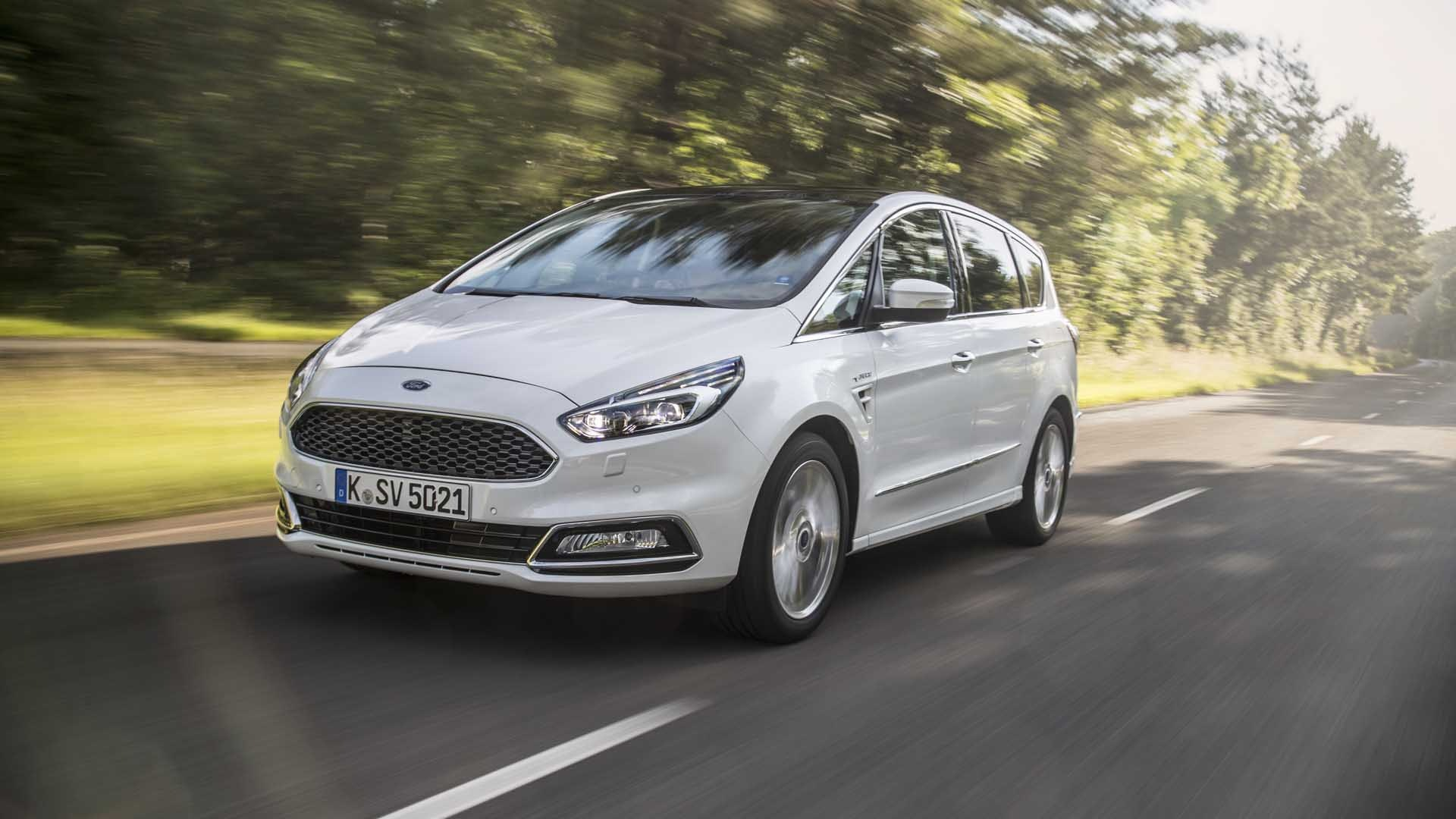 Ford S-Max hvid vignale front