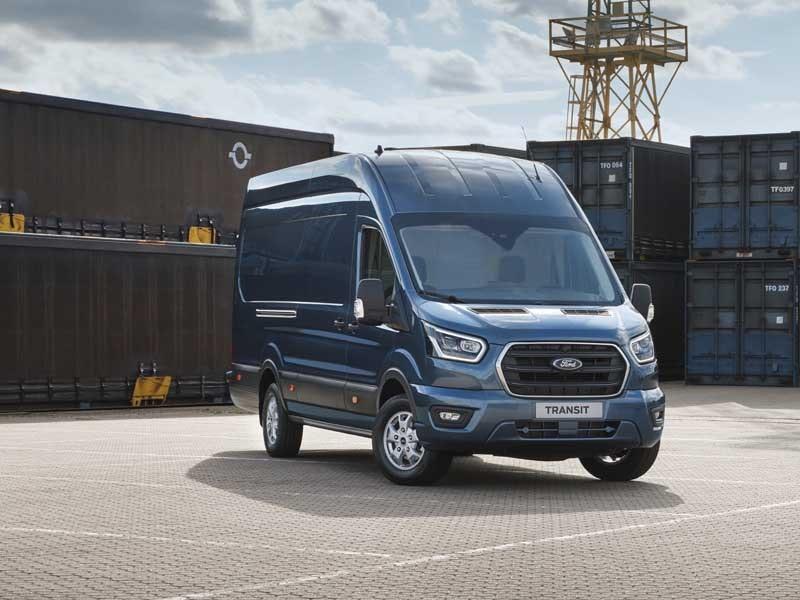 Ford Transit front Blå