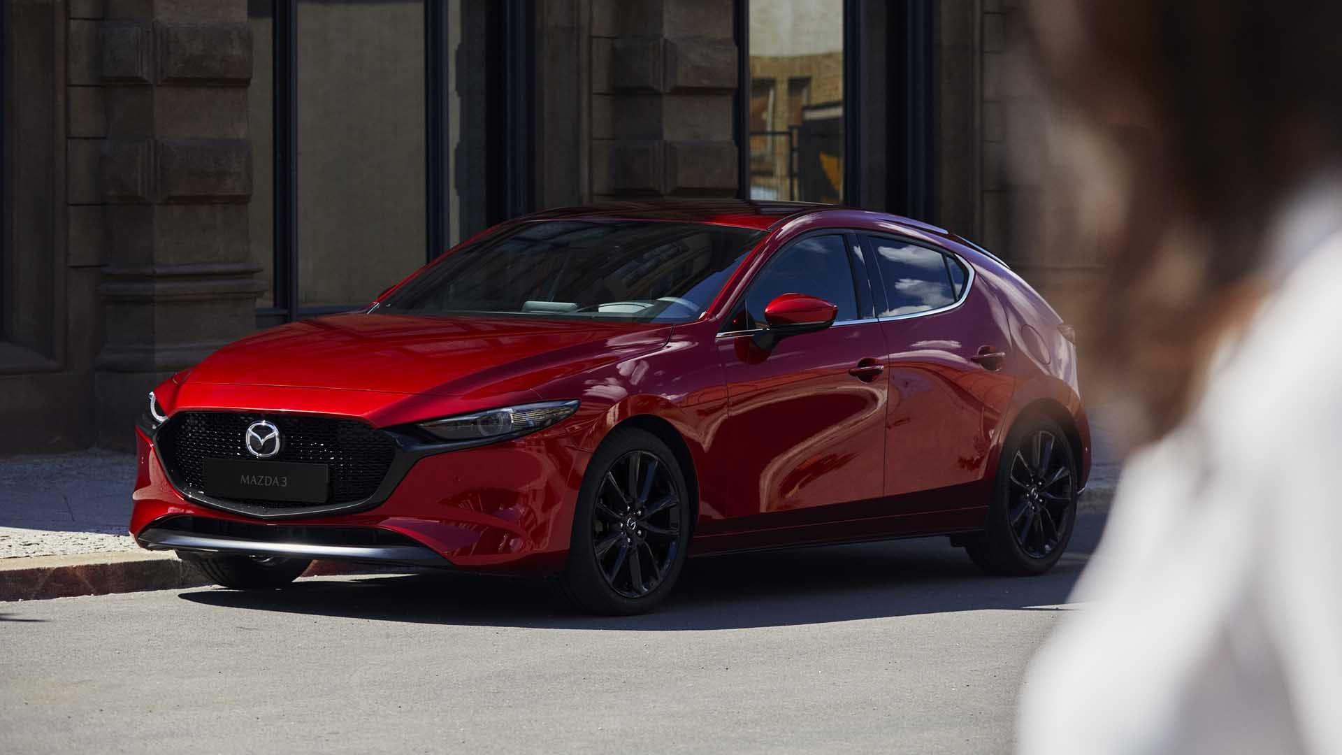 Mazda3 hatchback rød statisk