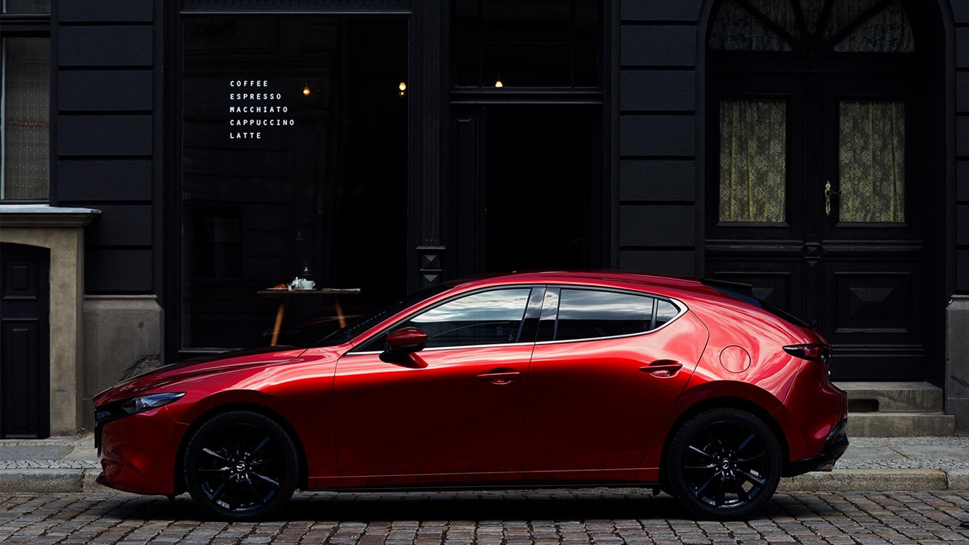 Mazda3 hatchback rød
