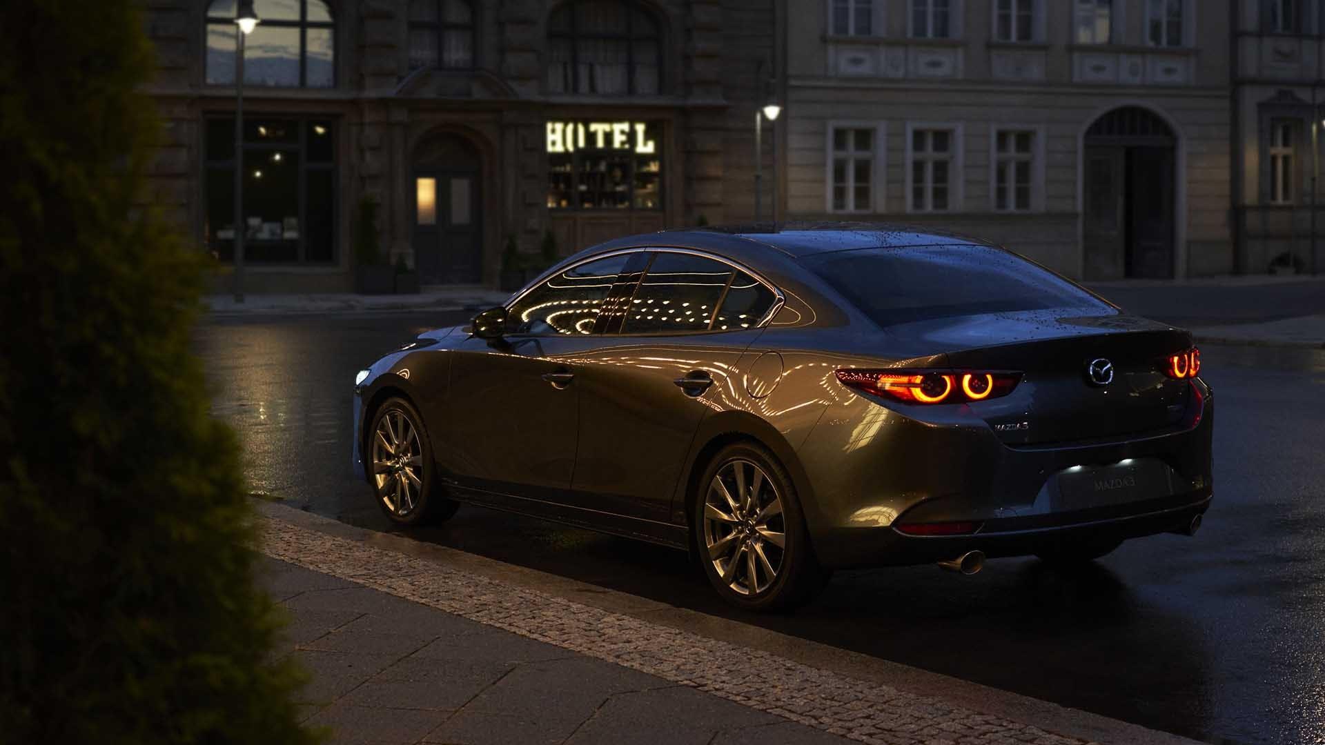 Mazda3 sedan grå