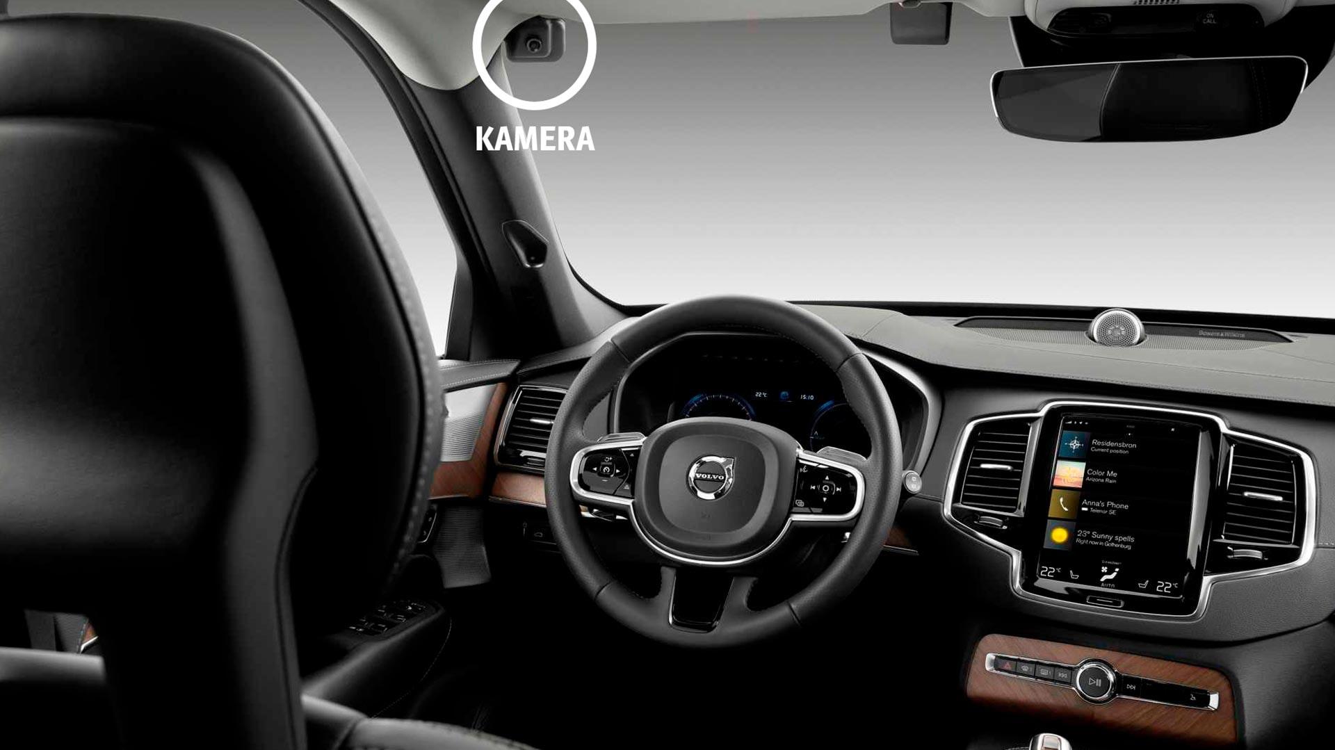 Volvo kamera holder øje med træthed